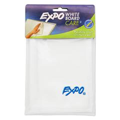EXPO Microfiber Cleaning Cloth, 12 x 12, White