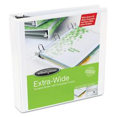 "Oversized D-Ring View Binder, 2"" Cap, White"