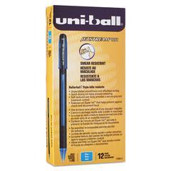 uni-ball Jetstream 101 Roller Ball Stick Water-Resistant Pen, Blue Ink, Medium, Dozen