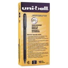 uni-ball Jetstream 101 Roller Ball Stick Water-Resistant Pen, Black Ink, Medium, Dozen