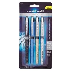 Vision Elite Designer Series Roller Ball Pen, .8 mm, Assorted Barrels, Black Ink