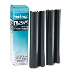 Brother PC402RF Thermal Transfer Refill Roll, Black, 2/PK