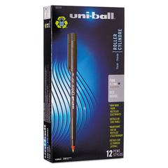 uni-ball Onyx Roller Ball Stick Dye-Based Pen, Red Ink, Fine, Dozen