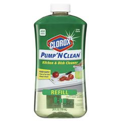 Pump 'N Clean Kitchen Cleaner, Crisp Citrus Scent, 24 oz Pump Bottle, 4/Carton