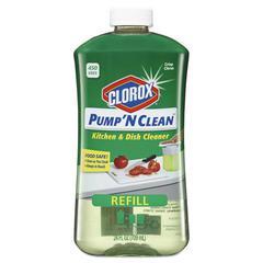 Clorox Pump 'N Clean Kitchen Cleaner, Crisp Citrus Scent, 24 oz Pump Bottle