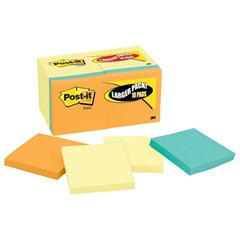 Original Pads Value Pack, 3 x 3, Canary Yellow/Cape Town, 100-Sheet, 18 Pads
