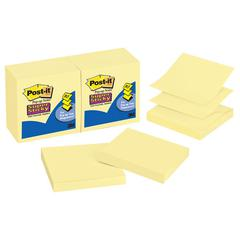 Post-it Pop-up 3 x 3 Note Refill, Canary Yellow, 90-Sheet, 12/Pack