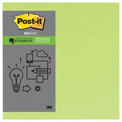 Post-it Evernote Collection Notes, 11 x 11, Limeade, 30-Sheet