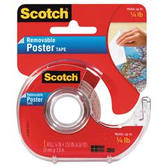 "Scotch Wallsaver Removable Poster Tape, Double-Sided, 3/4"" x 150"" w/Dispenser"