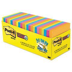 Pads in Rio de Janeiro Colors, 3 x 3, 70-Sheet, 24/Pack