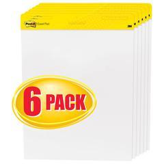 Self Stick Easel Pads, 25 x 30, White, 6 30 Sheet Pads/Carton