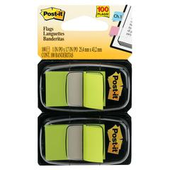 Standard Page Flags in Dispenser, Bright Green, 100 Flags/Dispenser