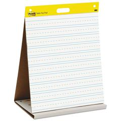 Post-it Self Stick Tabletop Easel Ruled Pad, Command Strips, 20 x 23, White, 20 Shts/Pad