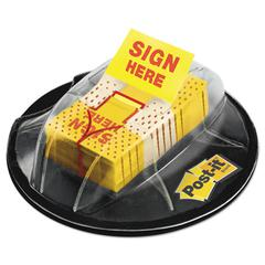 """Post-it Page Flags in Dispenser, """"Sign Here"""", Yellow, 200 Flags/Dispenser"""