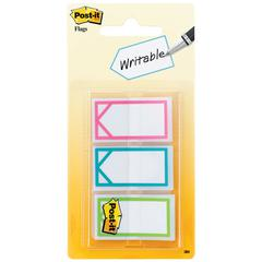 "Post-it Arrow 1"" Page Flags, Three Assorted Bright Colors, 60/Pack"