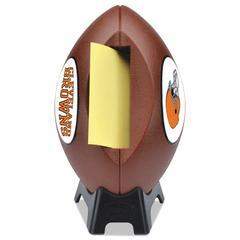 """NFL Football Dispenser, 3"""" x 3"""", Tan, Cleveland Browns"""