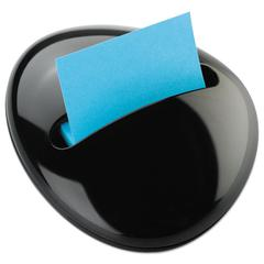 Post-it Pebble Notes Dispenser for 3 x 3 Pads, Black