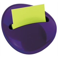 Pebble Notes Dispenser for 3 x 3 Pads, Purple