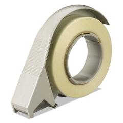 "H12 Filament Tape Hand Dispenser, 3"" Core, High-Impact Plastic, Putty"