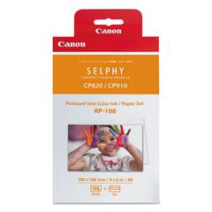 Canon 8568B001 (RP-108) Ink & Paper Combo Pack, Tri-Color