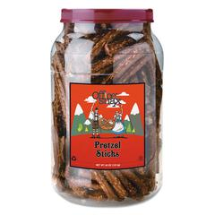 Office Snax Pretzel Assortment, Sticks, 40oz Tub
