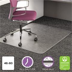 deflecto UltraMat All Day Use Chair Mat for High Pile Carpet, 46 x 60, Clear