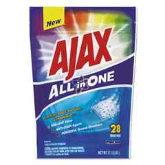 Ajax All in One Automatic Dish Detergent Pacs, Fresh Scent, 28/Pack