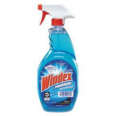 Windex Powerized Formula Glass & Surface Cleaner, 32oz Trigger Bottle, 12/Carton