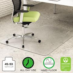 EnvironMat Recycled Anytime Use Chair Mat for Hard Floor, 45 x 53 w/Lip, Clear