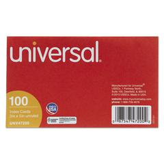 Universal Unruled Index Cards, 3 x 5, White, 100/Pack