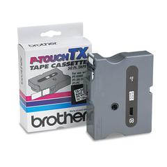 """Brother P-Touch TX Tape Cartridge for PT-8000, PT-PC, PT-30/35, 3/4""""w, Black on White"""