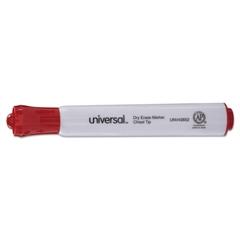 Universal Dry Erase Marker, Chisel Tip, Red, Dozen
