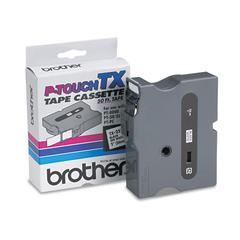 "Brother P-Touch TX Tape Cartridge for PT-8000, PT-PC, PT-30/35, 1""w, Black on White"