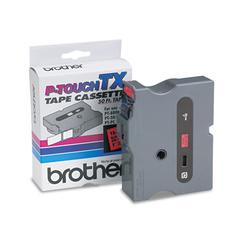 "Brother P-Touch TX Tape Cartridge for PT-8000, PT-PC, PT-30/35, 1""w, Black on Red"
