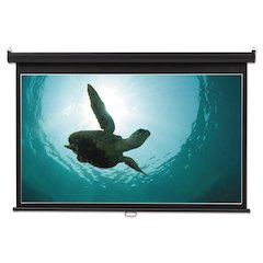 Wide Format Wall Mount Projection Screen, 52 x 92, White