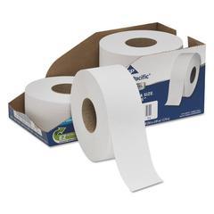 """White Jumbo Bathroom Tissue, 2-Ply, 3 1/2 x 1000 ft, 9""""Dia, 4/Carton"""