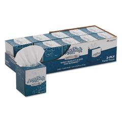 ps Ultra Facial Tissue, 2-Ply, White, 7 3/5 x 8 1/2, 96/Box, 10 Boxes/Carton