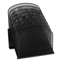 Safco Mesh Desk Organizer, Eight Sections, Steel, 11 1/4 x 10 7/8 x 13 3/4, Black