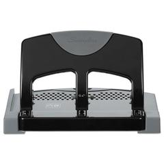 "45-Sheet SmartTouch Three-Hole Punch, 9/32"" Holes, Black/Gray"
