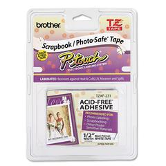 "TZ Photo-Safe Tape Cartridge for P-Touch Labelers, 1/2""w, Black on White"