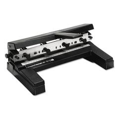 "40-Sheet Two-to-Four-Hole Adjustable Punch, 9/32"" Holes, Black"