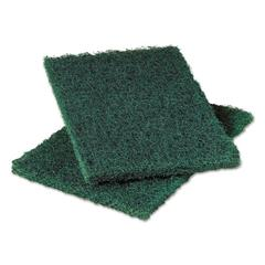 Heavy-Duty Commercial Scouring Pad 86, Dark Green, 6 x 9, 6/Pack, 10 Pack/Carton