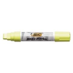 BIC Window Marker, Jumbo Chisel, Yellow