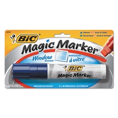 Window Marker, Jumbo Chisel, Blue