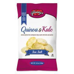 glenny's Quinoa & Kale Gluten Free Multi Grain Chips, Sea Salt, 5 oz Bag, 12/Carton