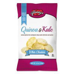 glenny's Quinoa & Kale Gluten Free Multi Grain Chips, White Cheddar, 5 oz Bag, 12/Carton