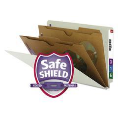 Smead Pressboard End Tab Classification Folder, Pockets, Legal, Six-Section, 10/Box
