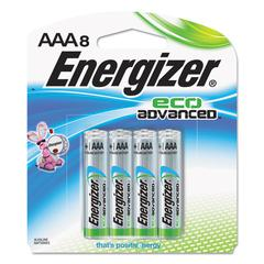 Energizer Eco Advanced Batteries, AAA, 8/Pk