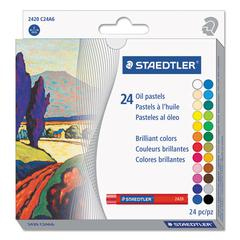 Oil Pastels, 24-Color Set, Assorted, 24/Pack