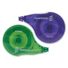 "Liquid Paper DryLine Correction Tape, Non-Refillable, 1/6"" x 472"", 10/Pack"